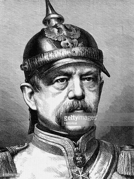 Portrait of Otto Von Bismark known as the Iron Chancellor He is generally regarded as the architect behind the declaration of the German Empire in...