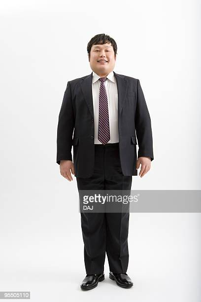 Portrait of overweight man