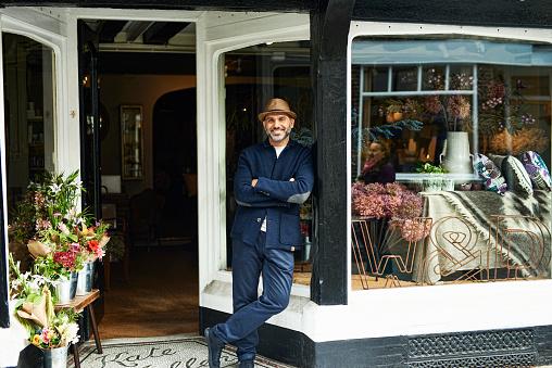 Portrait of owner in boutique - gettyimageskorea