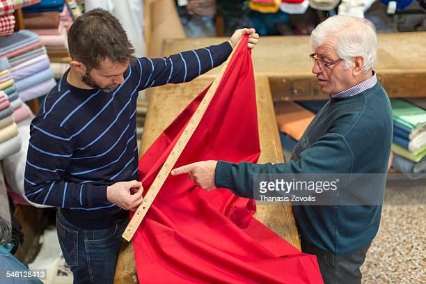 Portrait of owner of fabrics store