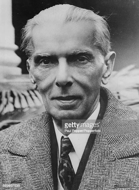 Portrait of Pakistani lawyer and politician Muhammad Ali Jinnah pictured in Karachi Pakistan on August 14th 1947