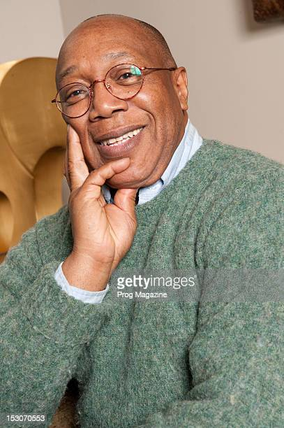 Portrait of Panamanian-American fusion drummer Billy Cobham, taken on February 15, 2012. Cobham is best know for working with 1970s jazz rock group...