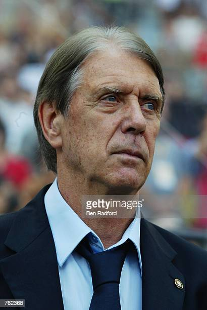 Portrait of Paraguay coach Cesare Maldini during the Germany v Paraguay World Cup Second Round match played at the SeogwipoJeju World Cup Stadium in...