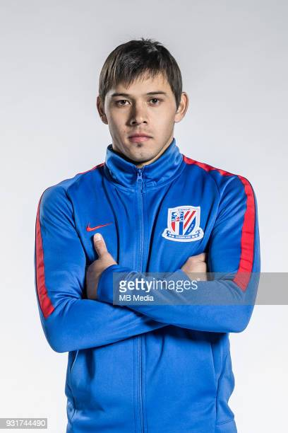 **EXCLUSIVE** Portrait of Paraguayan soccer player Oscar Romero of Shanghai Greenland Shenhua FC for the 2018 Chinese Football Association Super...
