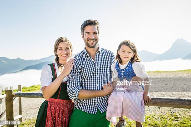Portrait of parents and daughter, Tyrol, Austria