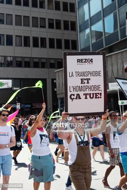 Porträt des Teilnehmers der LGBTQ-Pride-Parade in Montreal.