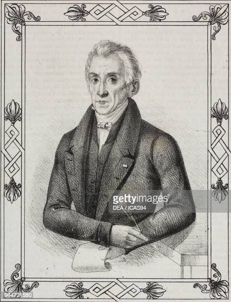 Portrait of Pasquale Maria Liberatore Italian jurist and economist lithograph from Poliorama Pittoresco n 4 September 3 1842