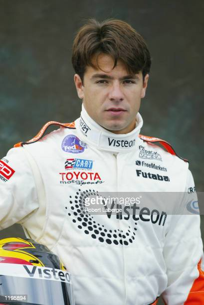 Portrait of Patrick Racing driver Oriol Servia before practice for the Molson Indy Vancouver round 10 of the CART FedEx Championship Series on July...