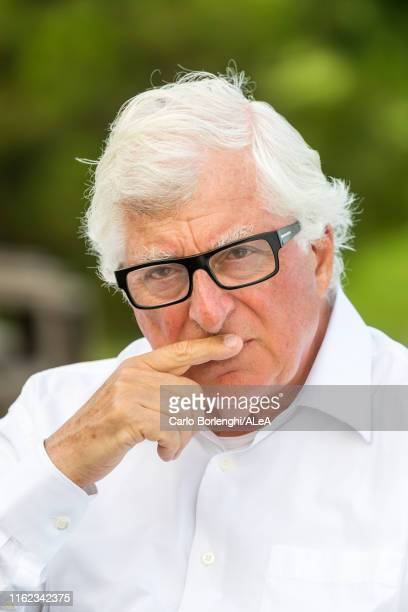 Portrait of Patrizio Bertelli, owner of Kookaburra II during the 12Mt World Championship on July 11, 2019 in Newport, Rhode Island.