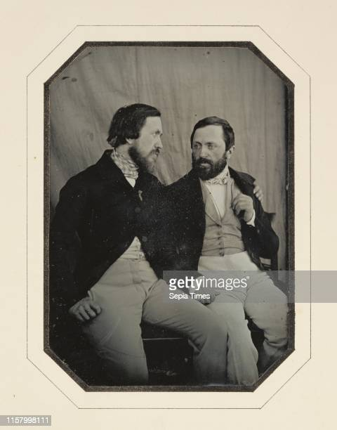 Portrait of Paul and Hippolyte Flandrin; F. Chabrol. French. Active 1840 - 1860s; 1848 - 1849; Daguerreotype; 1/2 plate. Image: 14.1 x 12.4 cm ....