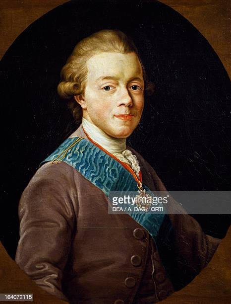 Portrait of Paul I of Russia Tsar of Russia painting Pompeo Batoni's workshop Florence Galleria Degli Uffizi