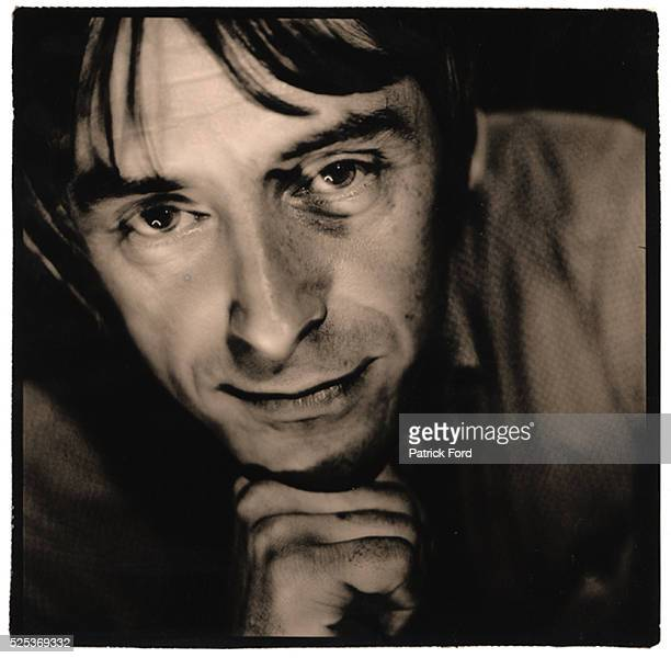 Portrait of Paul Weller at MTV studios in Camden London 1997