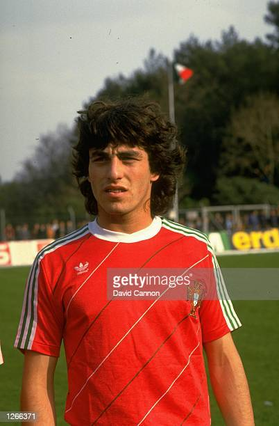Portrait of Paulo Futre of Portugal before a World Cup qualifying match against West Germany in Portugal West Germany won the match 21 Mandatory...
