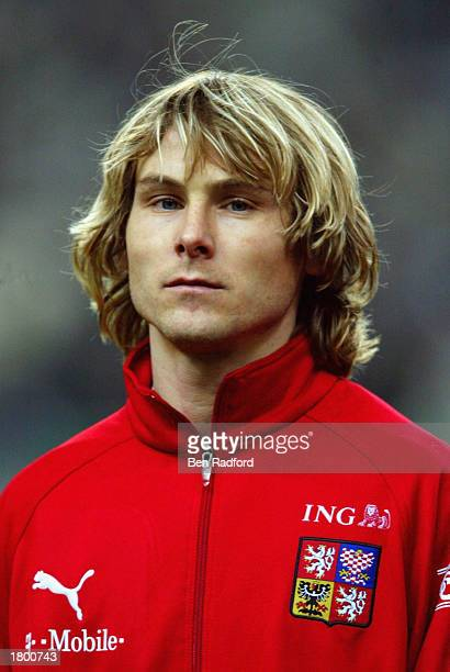 Portrait of Pavel Nedved of the Czech Republic before the International Friendly match between France and Czech Republic held on February 12 2003 at...