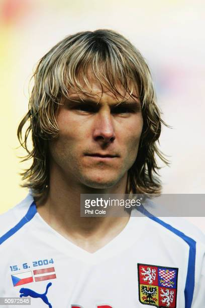 Portrait of Pavel Nedved of the Czech Republic prior to the UEFA Euro 2004 Group D match between Czech Republic and Latvia at the Estadio Municipal...