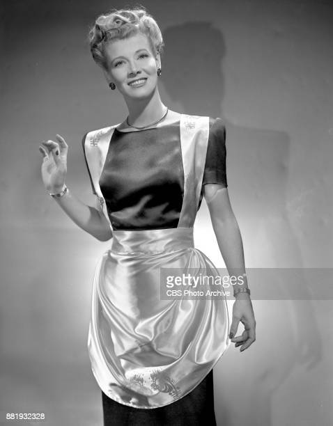 Portrait of Penny Singleton modelling fashions She portrays the lead character in the CBS Radio comedy program Blondie New York NY January 1 1946