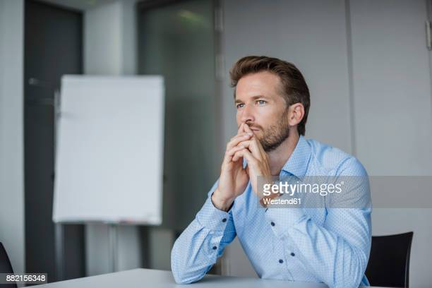 Portrait of pensive businessman in the office