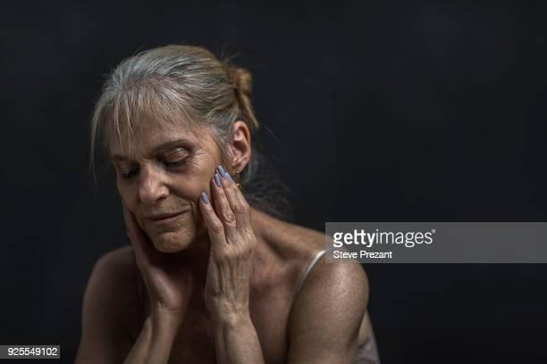 Portrait of pensive older Caucasian woman