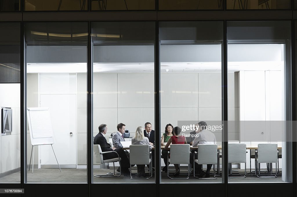 Portrait of people in a business meeting : Stock Photo