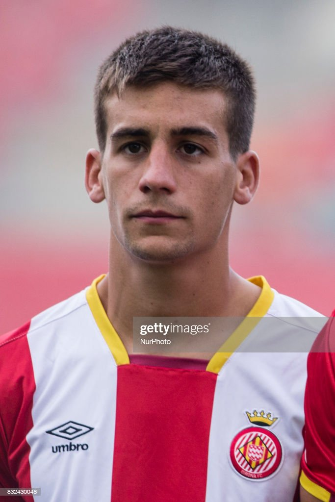 Portrait of Pere Pons from Spain of Girona FC during the Costa Brava Trophy match between Girona FC and Manchester City at Estadi de Montilivi on August 15, 2017 in Girona, Spain.