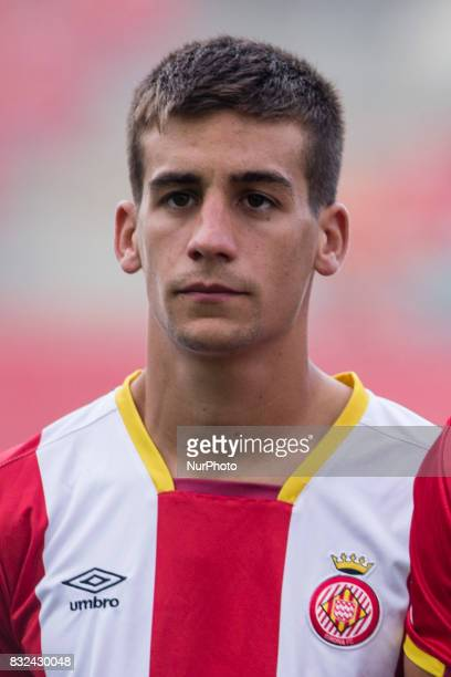 Portrait of Pere Pons from Spain of Girona FC during the Costa Brava Trophy match between Girona FC and Manchester City at Estadi de Montilivi on...