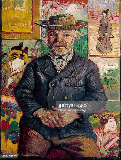 Portrait of pere Tanguy Painting by Vincent van Gogh oil on canvas 18871888 Stavros Niarchos collection