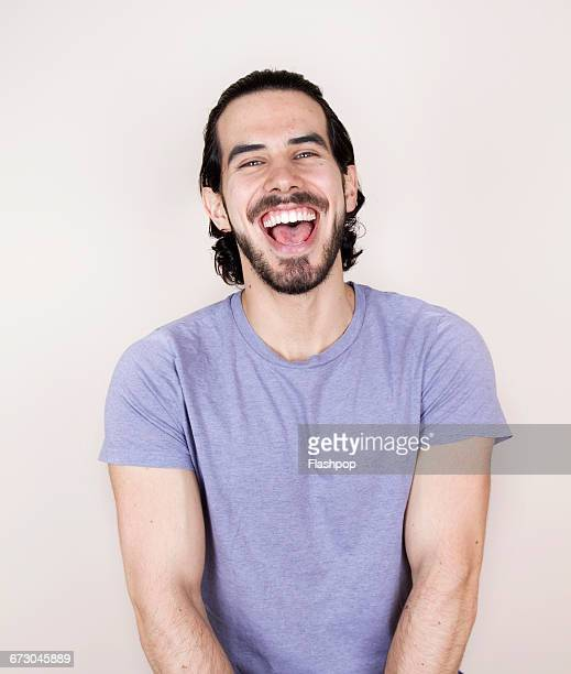 Portrait of person laughing