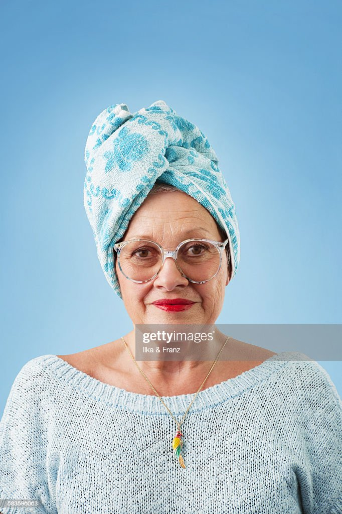 Portrait of person with vintage glasses : Stock Photo