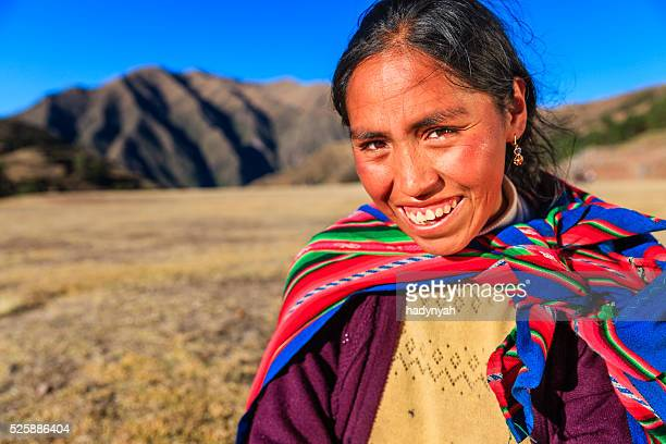 Portrait of Peruvian woman in national clothing, The Sacred Valley