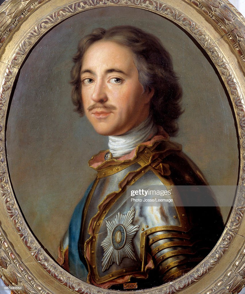 Portrait of Peter I the Great, tsar of Russia : News Photo