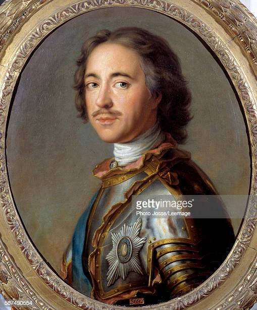 Portrait of Peter I the Great Tsar of Russia Painting by Jean Marc Nattier 18th century 063 x 052 m Castle Museum Versailles France