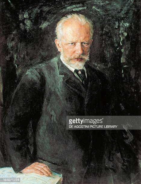 Portrait of Peter Ilyich Tchaikovsky Russian composer Painting by Nikolai Kusnezow 1893