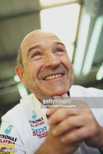 Portrait of Peter Sauber, Team Principal of the Sauber Petronas F1 Team during the Formula One British Grand Prix on 10 July 2005 at the Silverstone...