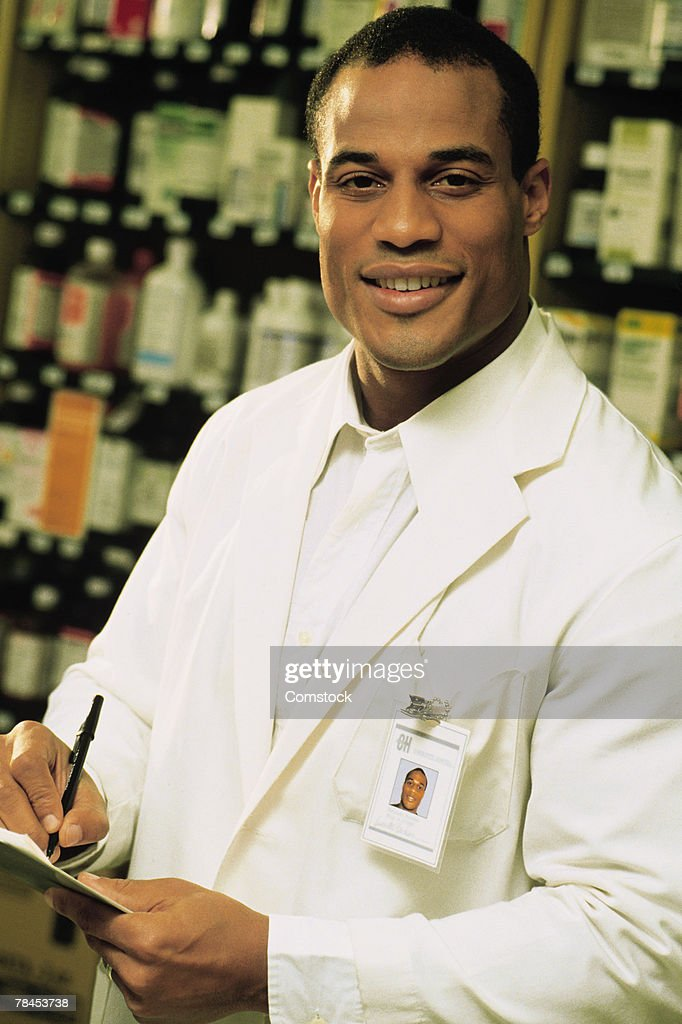 Portrait of pharmacist : Stockfoto