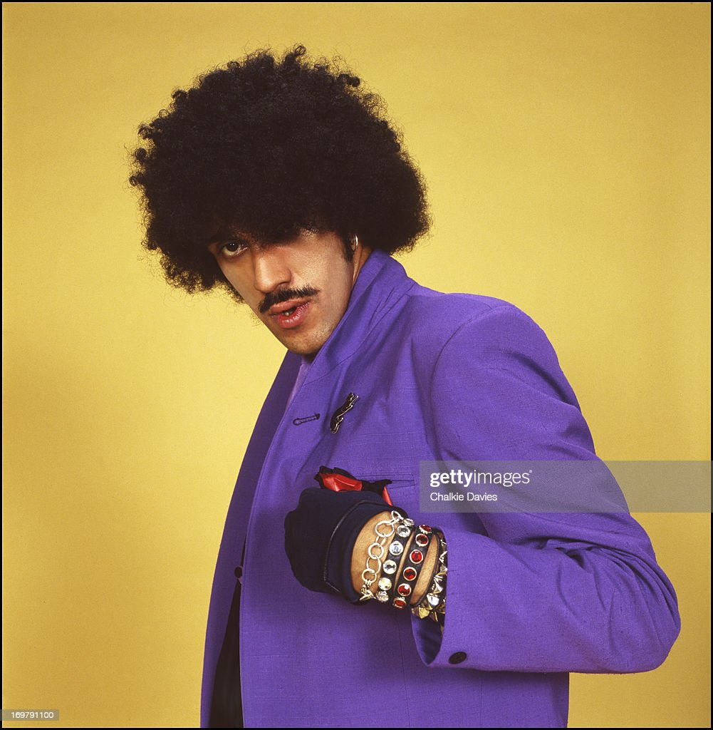 A portrait of Phil Lynott from Thin Lizzy, photographed in a studio in Paris during the recording of the album 'Black Rose', 1979.