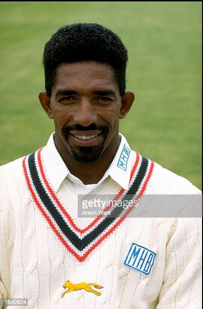 Portrait of Phil Simmons of Leicestershire and the West Indies Mandatory Credit Anton Want /Allsport