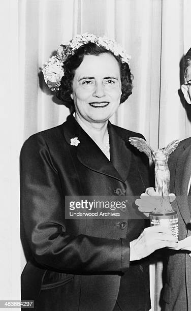 A portrait of philanthropist and health activist Mary Lasker presenting an award 1957 She was cofounder of the medical research oriented Lasker...