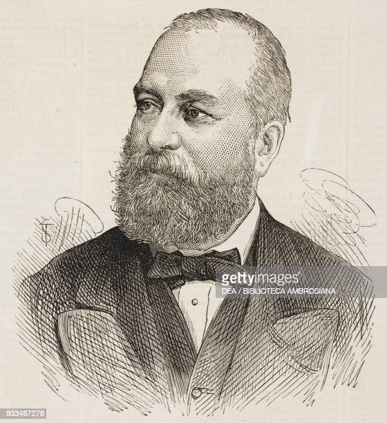 Portrait of Philip Cunliffe-Owen , exhibition organizer and the Director of the South Kensington Museum in London, illustration from the magazine The...
