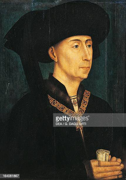 Portrait of Philip III known as The Good Duke of Burgundy Painting by Rogier van der Weyden Dijon Musée Des BeauxArts