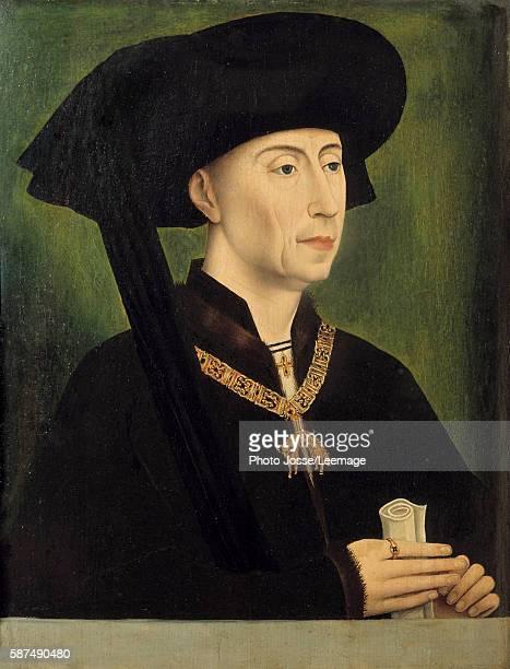 Portrait of Philip the Good Duke of Burgundy Painting after Roger van der Weyden 15th century 034 x 025 m Louvre Museum Paris