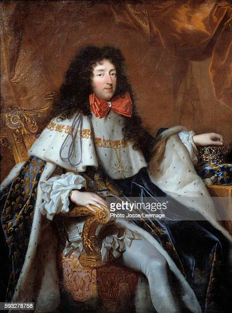 Portrait of Philippe Duc d'Orleans called Monsieur brother of Louis XIV Painting by Pierre Mignard 17th century147x14 m BeauxArts Museum Bordeaux...