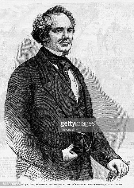 Portrait of Phineas T Barnum an American showman and promoter During his life he sponsored a highly successful tour by singer Jenny Lind he opened...