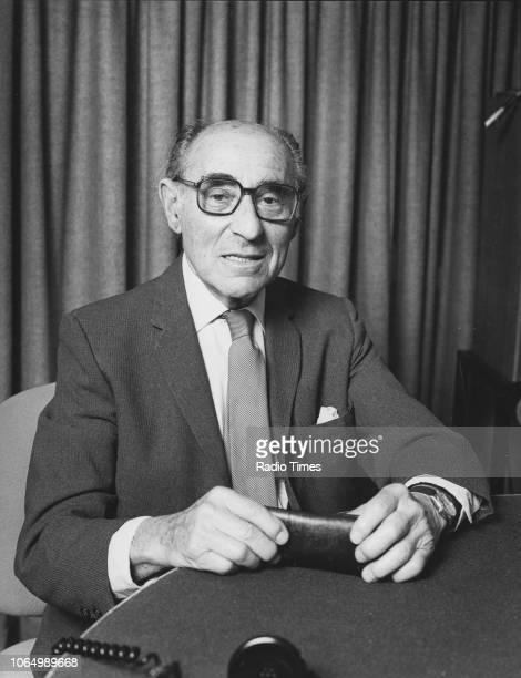 Portrait of photographer Alfred Eisenstadt, June 1984.