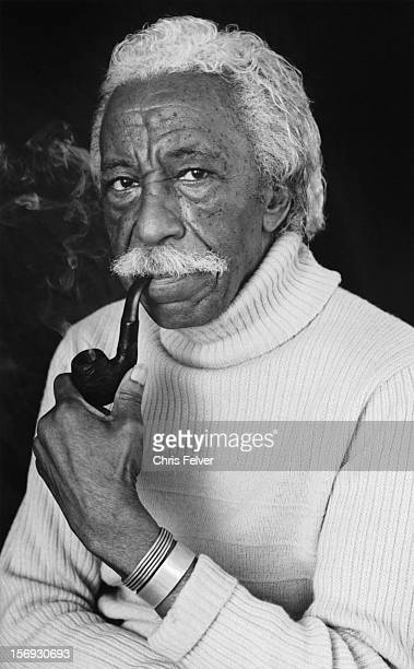 Portrait of photographer film director and musician Gordon Parks New York New York 2000