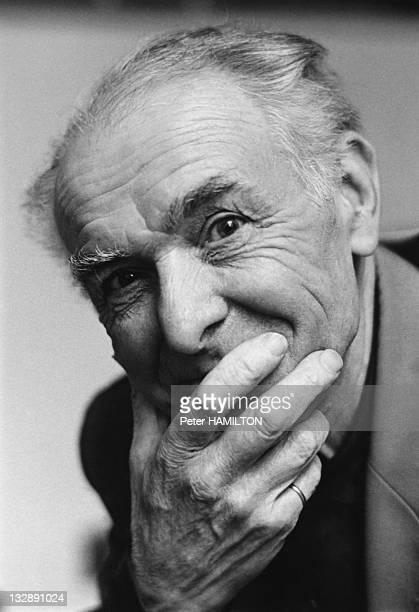 Portrait of Photographer Robert Doisneau during 1992 in Paris France
