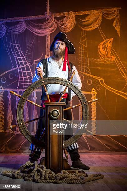 Retrato de pirata capitán