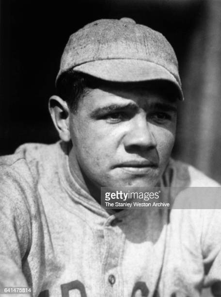 Portrait of pitcher Babe Ruth of the Boston Red Sox circa 1918
