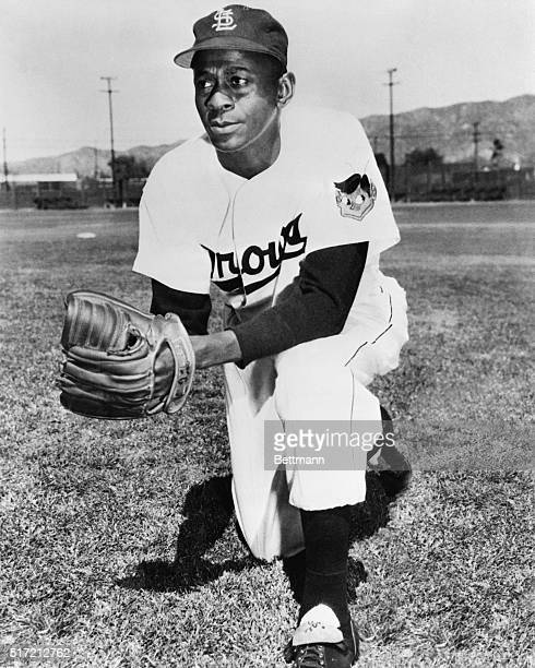 "Portrait of pitcher Leroy ""Satchel"" Paige, former star pitcher in the Negro Leagues, in uniform for the St. Louis Browns of the American League. July..."