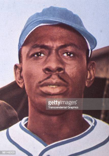 Portrait of pitcher Satchel Paige while playing in Mexico around 1940.