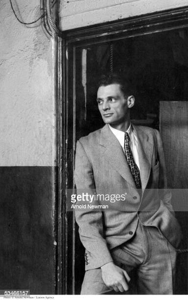 Portrait of playwright Arthur Miller Febuary 20 1947 in New York City Miller is best known for his masterpiece 'Death of a Salesman'